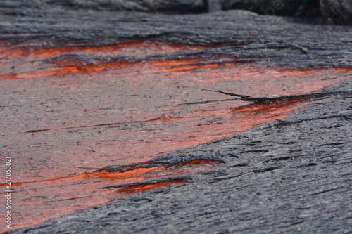 In de dag Stenen Lava Flow