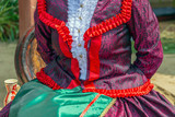 Detail of Hungarian folk costume for woman - 217055215