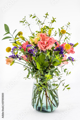 Bunch of flowers bouquet in a vase