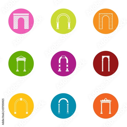 Dome icons set. Flat set of 9 dome vector icons for web isolated on white background © ylivdesign