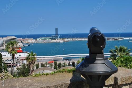 Canvas Barcelona Widok na port w Barcelonie