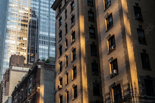 Foto Murales New York City / USA - JUL 19 2018: Midtown skyscrapers and buildings facade in Manhattan