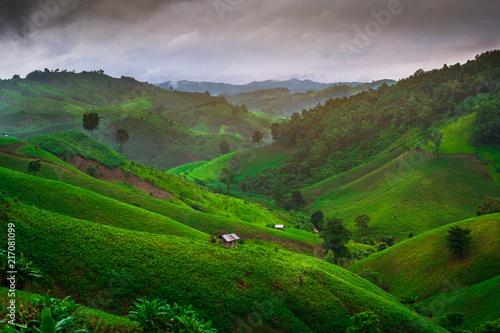 Plexiglas Thailand Mountain View in Nan Province, Thailand