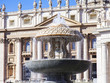 Quadro ROME, ITALY, on March 9, 2017. The beautiful ancient fountain decorates Saint Peter's Square in Vatican