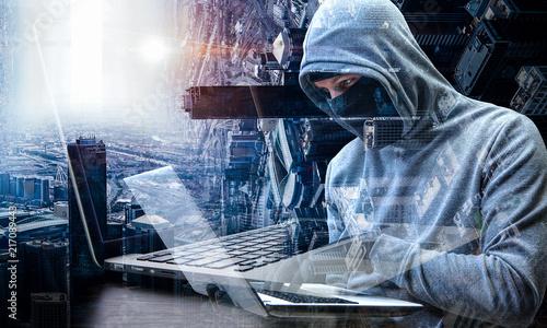 Plakat Danger of hack attack