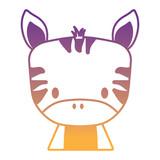 cute zebra icon over white background, vector illustration - 217089891