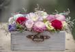 Quadro Colorful flowers box