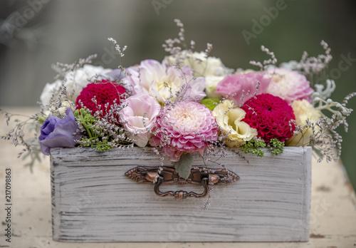 Foto Murales Colorful flowers box