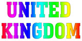 United Kingdom Multicolor flag design rainbow logo Rainbow style