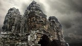 Timelapse of Angkor Thom temple entrance Cambodia Siem Riep - 217106495