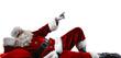 Leinwanddruck Bild - Santa Claus and white space