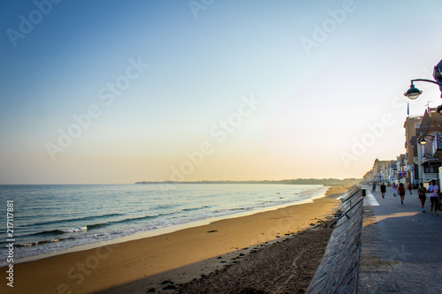 Foto Spatwand Strand Saint Malo surroundings