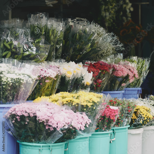 Foto Murales Flowers market