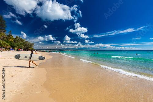 Fotobehang Beige COOLANGATTA, AUS - MAY 01 2017, Coolangatta beach and Rainbow Bay, Gold Coast, Australia