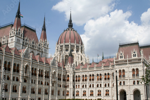 Foto Spatwand Boedapest Parliament in Budapest, fragment