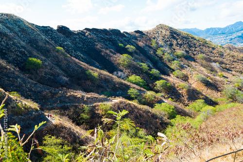 Fotobehang Beige ダイアモンドヘッド•ハイキング(Diamond Head Hiking Trail)