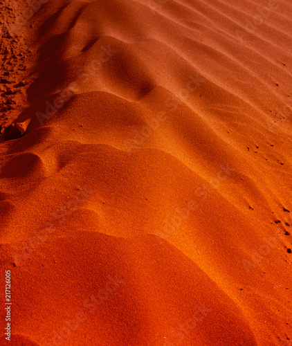 Fotobehang Rood traf. Sand dune texture