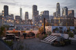 Quadro View Of Los Angeles Skyline At Sunset From Roof Terrace