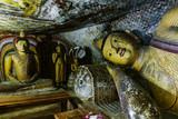 Interior of a buddhist temple from Sri Lanka