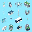 Smart City Isometric Icons Set
