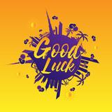 good luck text illustration