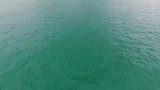 Calm Sea Ocean Water Waves Surface View from Above Aerial Top Background 4K Video. - 217133043