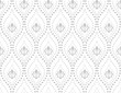 Flower geometric pattern. Seamless vector background. White and grey ornament. Ornament for fabric, wallpaper, packaging, Decorative print, - 217136286