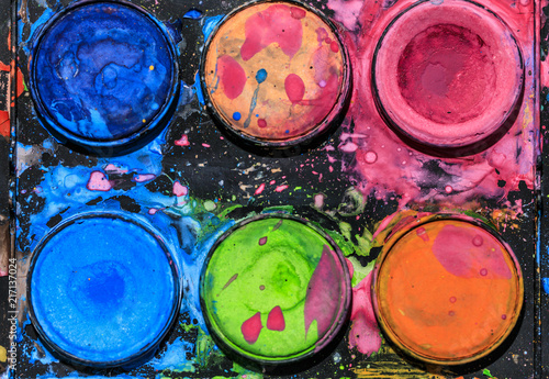 Foto Murales Colorful water palette