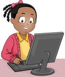 Kid Girl Draw Tablet Computer Digital Art