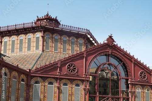 Canvas Barcelona Mercat de Sant Antoni market in Barcelona, Spain