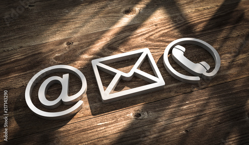 3D Illustration Kontakt Symbole metal © fotomek