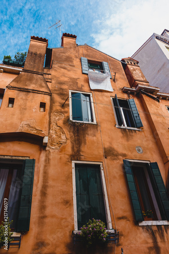 Foto Murales Venice, Italy - May 24, 2018: Beautiful architecture of a unique Venice. Postcard with a view of the city.