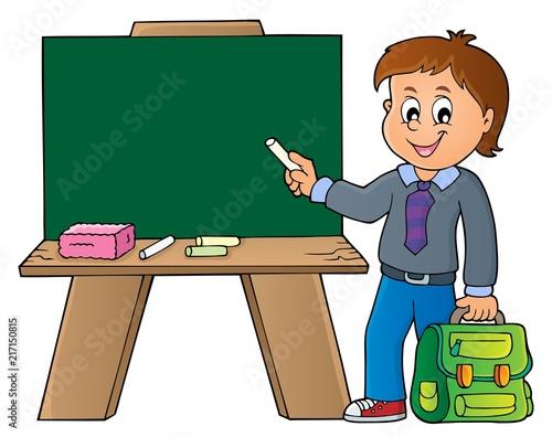 Canvas Voor kinderen Happy pupil boy theme image 8