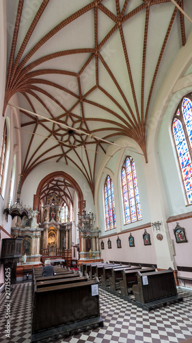 Foto Murales Interior of Church of St. Francis and St. Bernard, Vilnius, Lithuania.