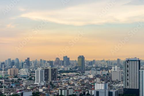 Plexiglas London urban cityscape with cloudscape and wonderful skyline