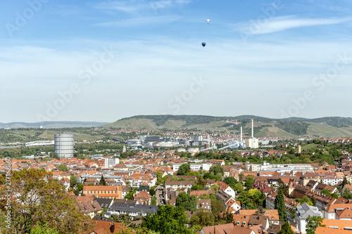Foto Murales Stuttgarter Gaskessen mit Heissluftballon