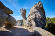 Quadro Unique granite rock formations in Sequoia National Park.