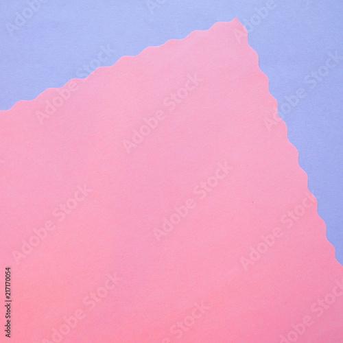 Śliczny papierowy tło z ażurową krawędzią dla projekta. Niebieskie i różowe.