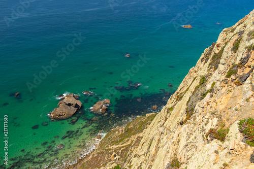 Foto Spatwand Groen blauw Beautiful view over Cabo da Roca in Lisbon, Portugal.