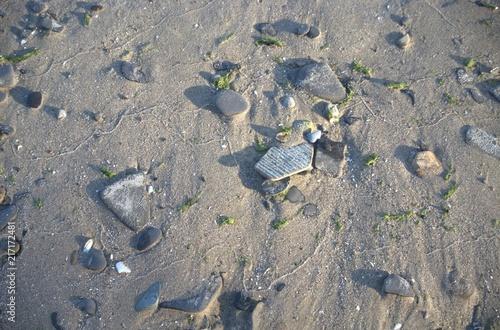 Fotobehang Donkergrijs lake erie