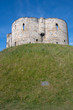 Looking up at Clifford Tower York Yorkshire