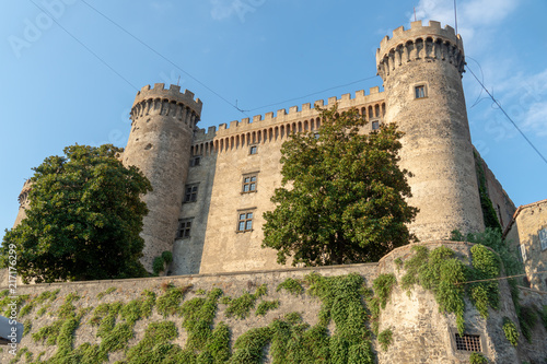 Poster View of the Castello Orsini-Odescalchi, Medieval castle in Bracciano, in the Province of Rome, Lazio, Italy, built in the 15th century