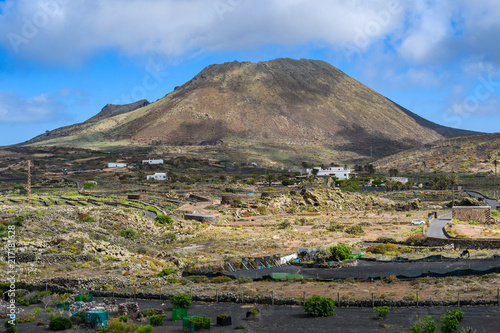 Corona Volcano in Lanzarote, Spain - 217181628