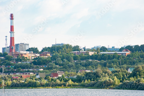 Foto Spatwand Groen blauw sergiev_posad. Nature_of_moscow_region_summer_2018