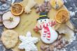 Leinwanddruck Bild - Zum Weihnachtsfest backen