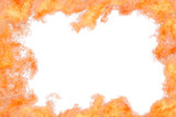 Bright orange flame frame isolated - 217191825