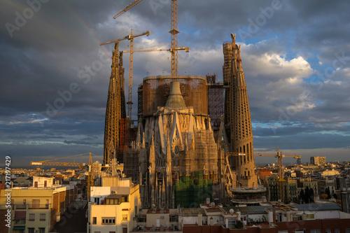 Aluminium Barcelona sagrada familia