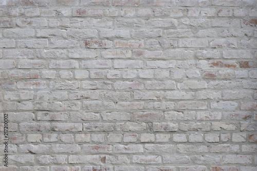 Fototapeta White grunge brick wall background