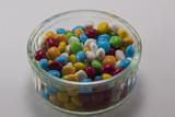 caramelle colorate , confetti liquirizia primo piano