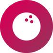 Vector ilustración icono rosa para comercios y web con dibujo de bola
